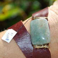 thumbs grn blue sqr stone1 0 Leather Wrap Bracelets