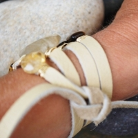thumbs multi wrap arm 2 Multi Wrap Leather Bracelets