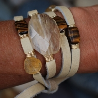 thumbs mw39 2 3 tigers eye 2 citrinelrgcitrine1 Multi Wrap Leather Bracelets