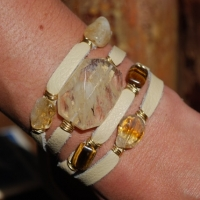 thumbs tiger eye1 Multi Wrap Leather Bracelets