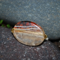 thumbs r1 oval tiger quartz gold Wire Wrap Rings