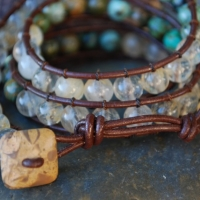 thumbs beaded brwn sold1 Beaded Leather Wrap Bracelet